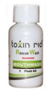toxin rid mouth wash bottle